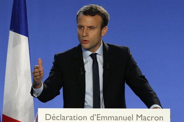 Emmanuel Macron, candidato a la Presidencia