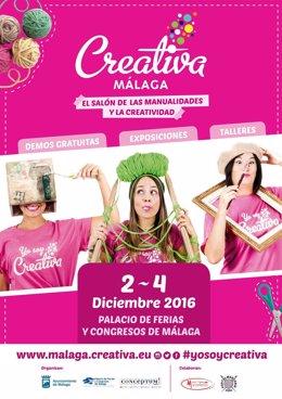 Cartel de Creativa Málaga