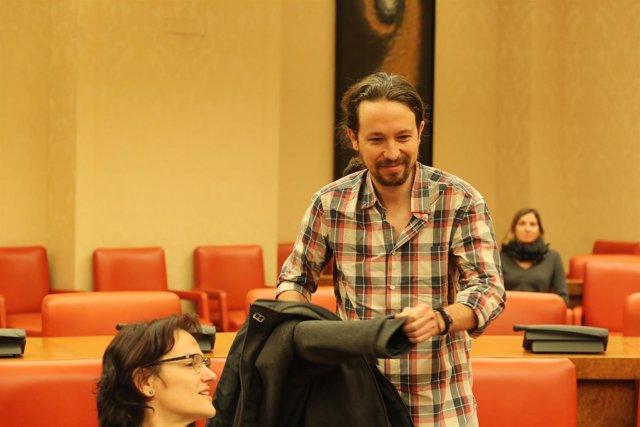 Pablo Iglesias en una comisión del Congreso