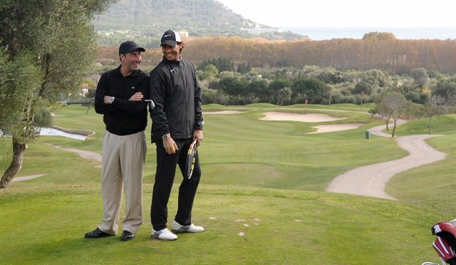 Nadal y Olazábal al frente del torneo solidario de golf en Mallorca
