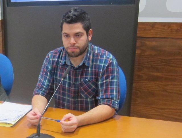 El Concejal De Economía Y Empleo De Oviedo, Rubén Rosón (Somos) .
