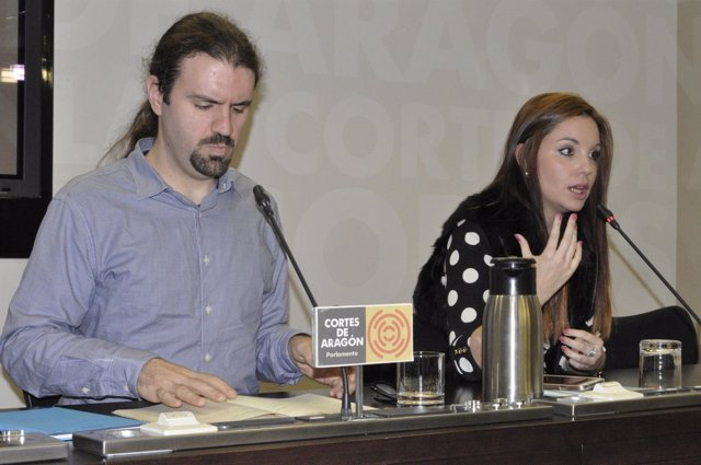 Héctor Vicente y Maru Díaz, diputados de Podemos