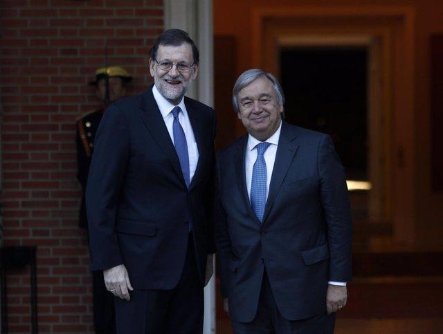 Rajoy recibe en la Moncloa a António Guterres
