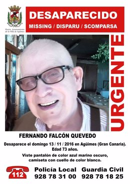 Fernando Falcón, desaparecido en Agüimes