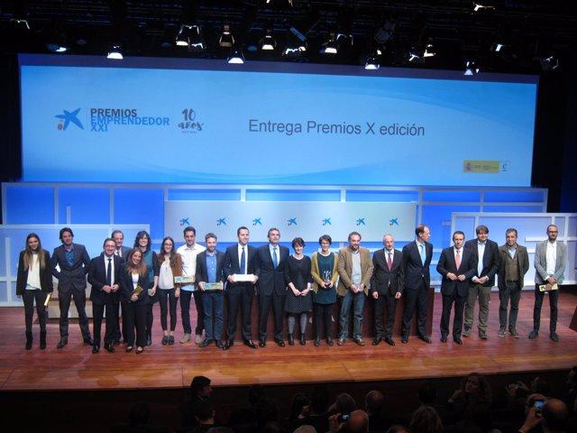 Galardonados en los Premios EmprendedorXXI 2016