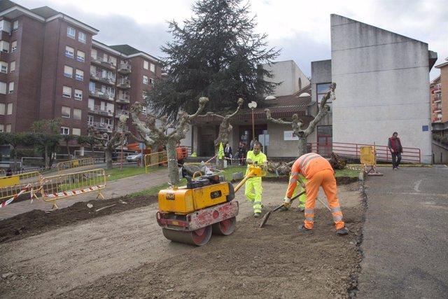 Mejoras en el aparcamiento del centro de salud José Barros