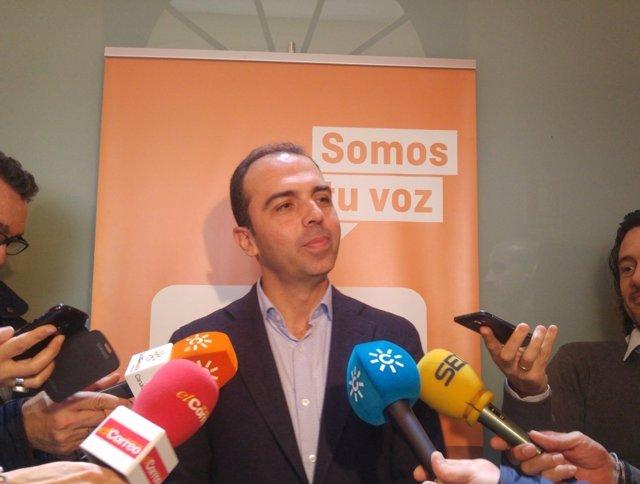 El portavoz municipal de Ciudadanos en Sevilla, Javier Millán