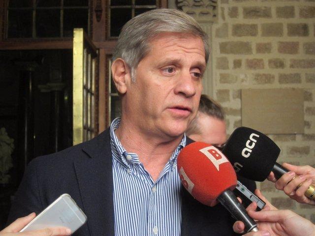 El líder del PP en el Ayuntamiento, Alberto Fernández