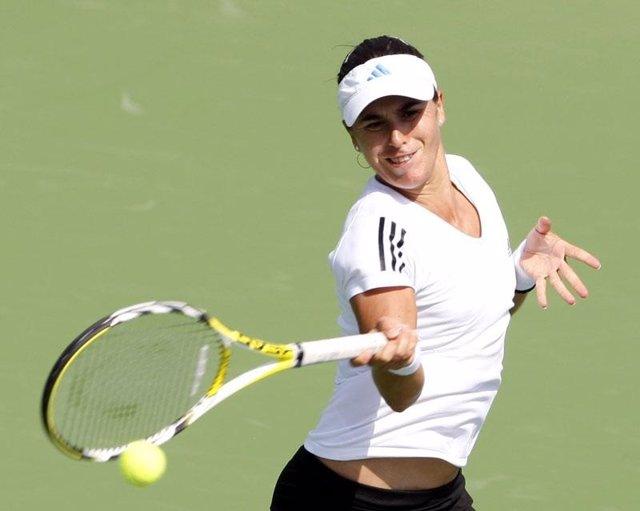 La tenista española Anabel Medina