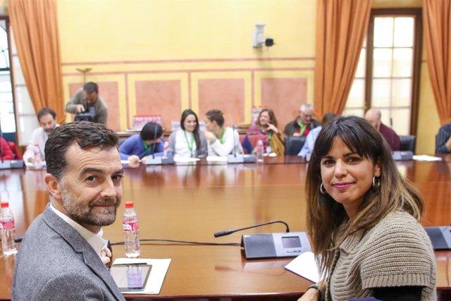 Maíllo y Rodríguez reunidos con representantes de la comunidad andaluza
