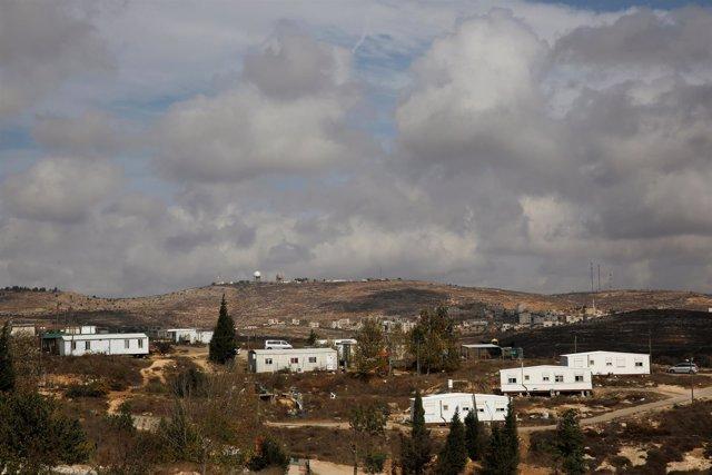 Asentamiento de Amona, en Cisjordania
