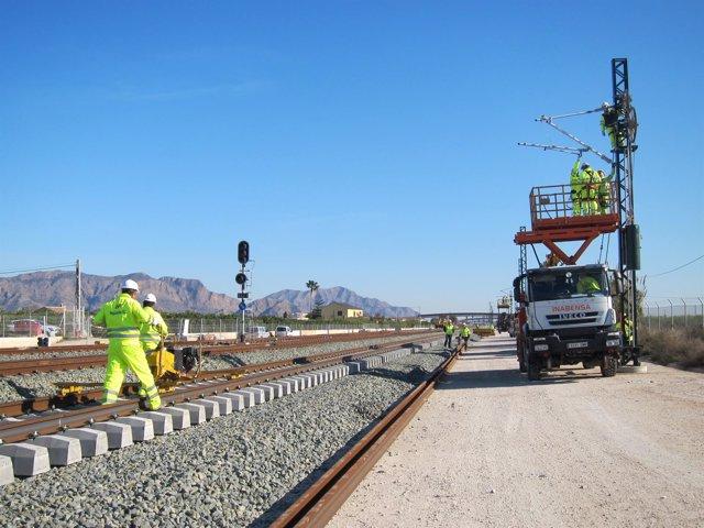 Obras del AVE a Murcia. Estación de Beniel. Alta Velocidad