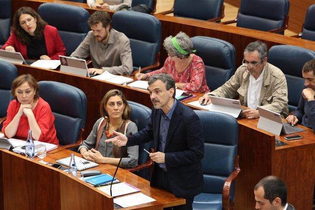 El portavoz de Podemos en la Asamblea de Madrid, José Manuel López