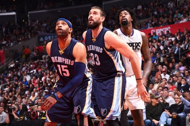 Marc Gasol en el Memphis Grizzlies - Los Angeles Clippers