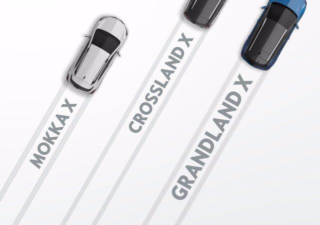 Opel Mokka, Crossland y Grandland