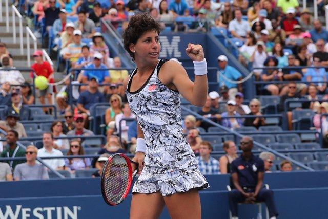 La tenista grancanaria Carla Suárez