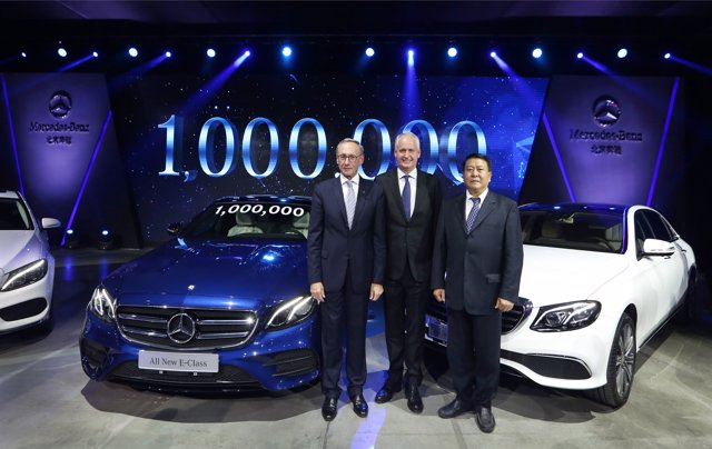 Producción de la unidad un millón de Daimler en Pekín