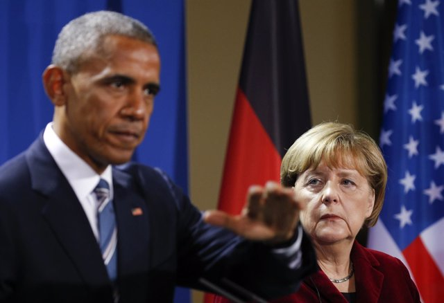 Barack Obama y Angela Merkel