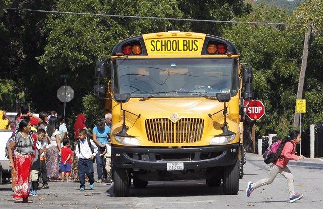 Autobús escolar en Estados Unidos