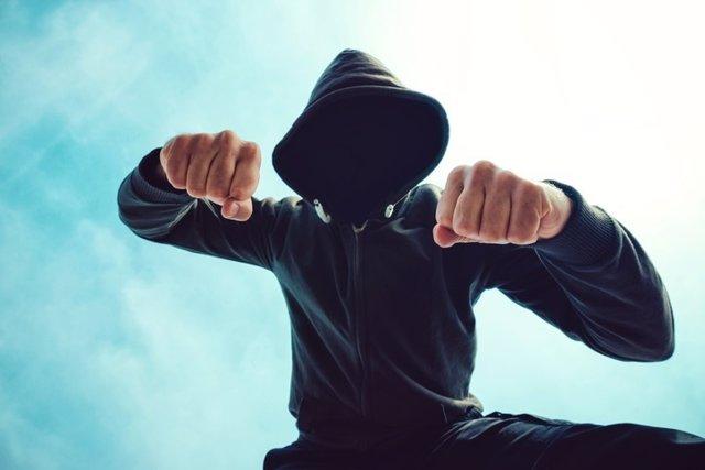 Agresivo, luchar, pelea, hombre, conflicto