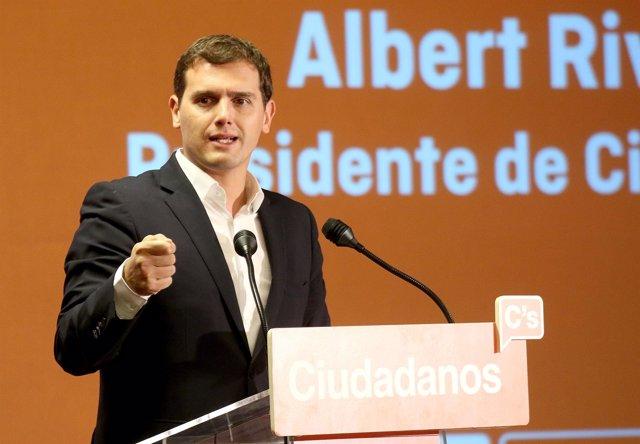 El presidente de Ciudadanos (C's), Albert Rivera