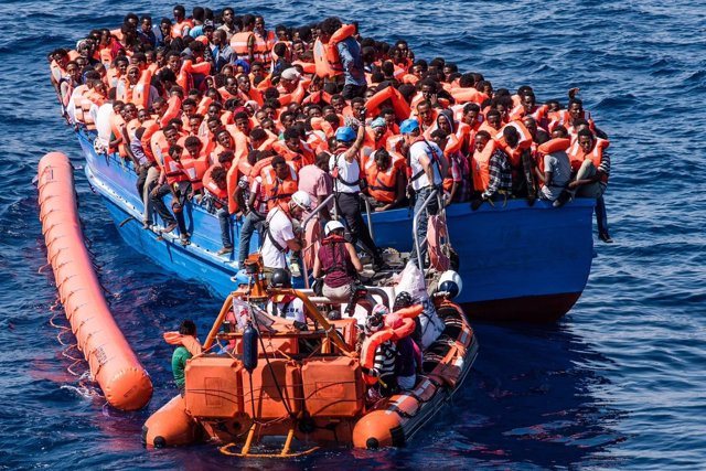 Rescate de inmigrantes en Mediterráneo