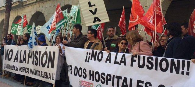 Concentración contra la fusión hospitalaria