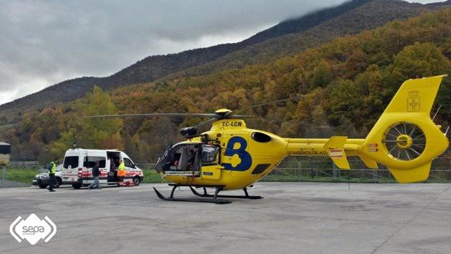 Intervención en Degaña por un fallecido por fuga de gas.