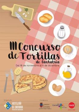 Cartel del concurso de tortillas