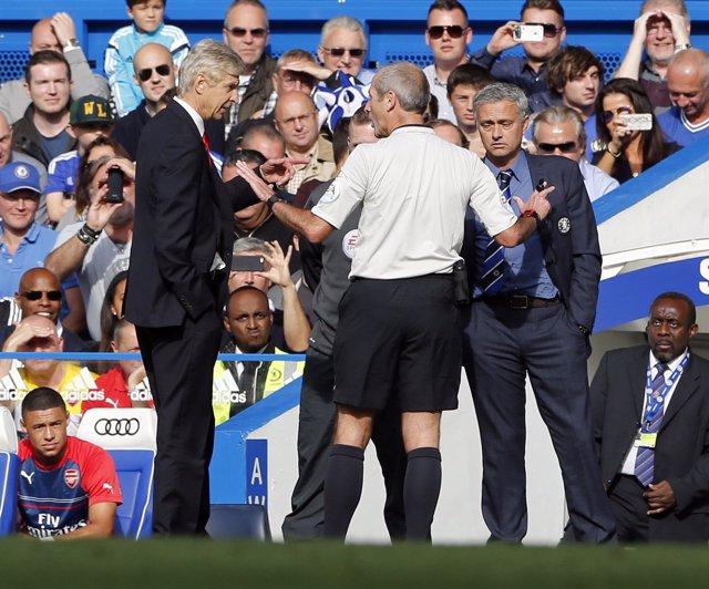 Wenger y Mourinho