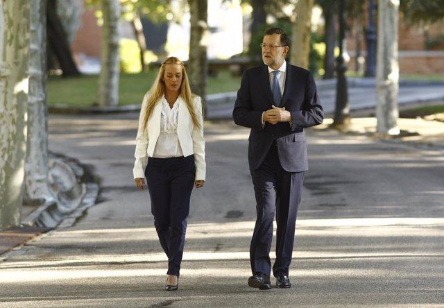Mariano Rajoy y Lilian Tintori