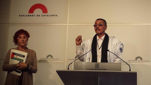 El presidente del Parlamento saharaui, Jatri Adduh en el Parlament