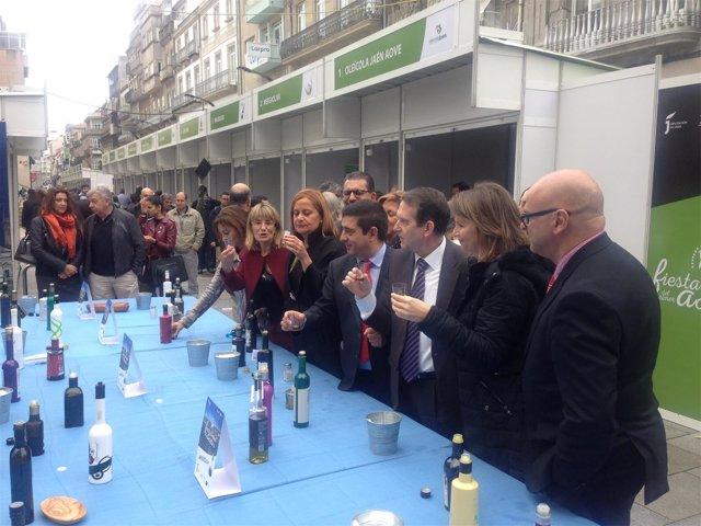 Inauguración en Vigo de la Fiesta del Primer Aceite de Jaén.