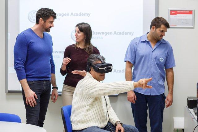 Volkswagen Navarra incorpora la realidad virtual para formar a su plantilla.