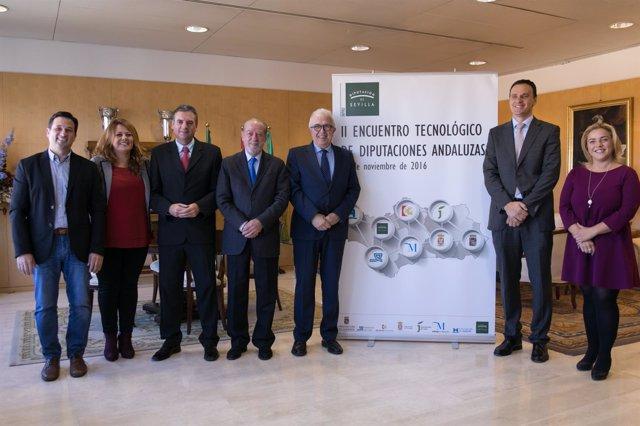 Encuentro tecnológico en la Diputación de Sevilla.