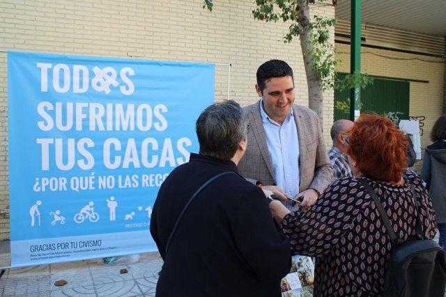 El concejal de Servicios urbanos de Almería, Juanjo Alonso