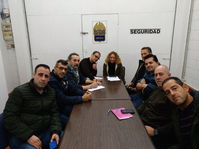 Encierro de trabajadores de Segur Ibérica