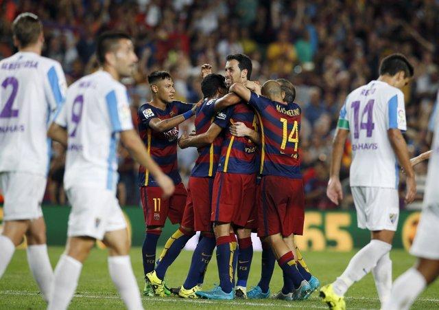 Barcelona y Málaga en el Camp Nou