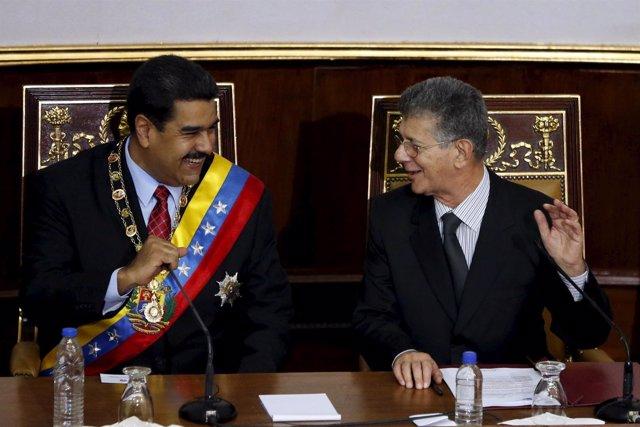 Nicolás Maduro y Henry Ramos Allup