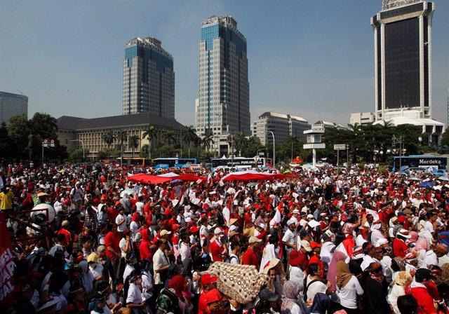 Manifestación en Indonesia contra la intolerancia