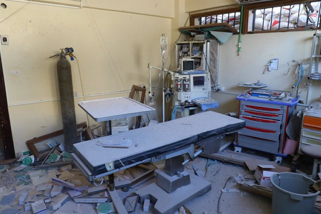 Hospital bombardeado en Alepo (Siria)