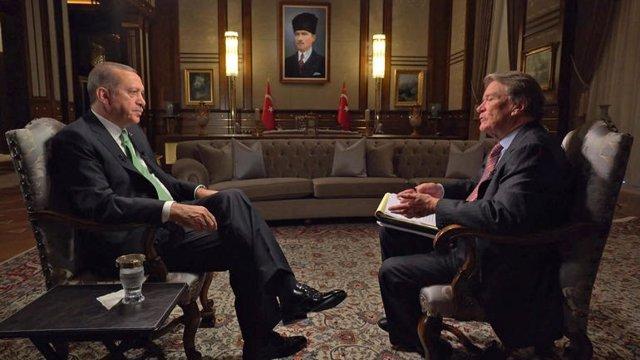 Erdogan, en el programa 60 Minutes de la CBS