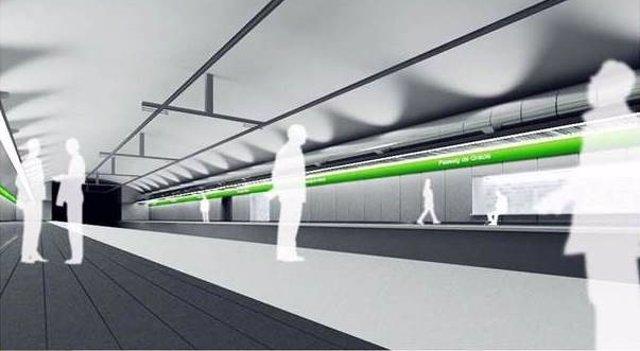 Diseño propuesto para la estación de Passeig de Gràcia