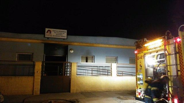 Incendio en un centro de dependientes de Afanas en El Puerto de Santa María