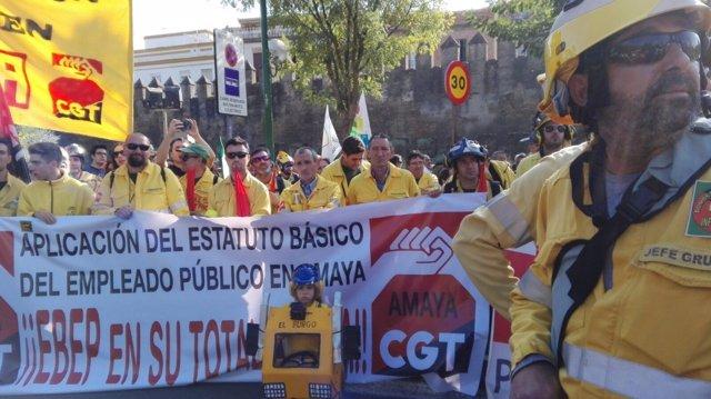Momento de la Marcha de la Dignidad-Andalucía