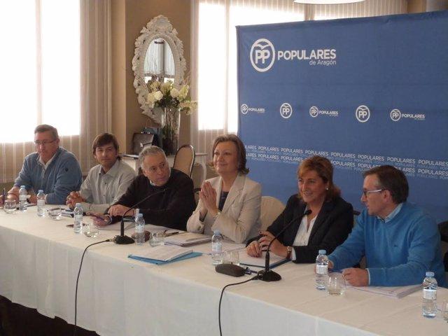 Reunión de alcaldes y concejales del PP en Jiloca y Cuencas Mineras.