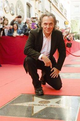 Jose Coronado estrena estrella en el Paseo de la Fama de Almería.
