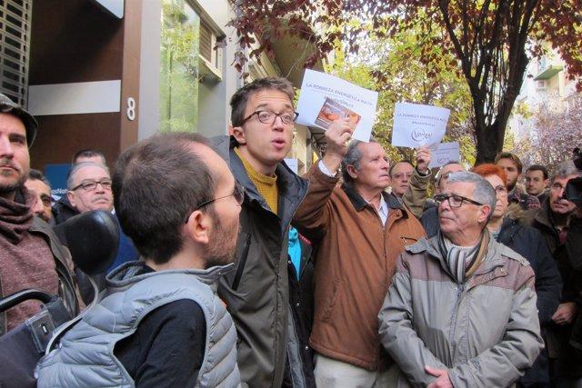 Íñigo Errejón este sábado en la protesta en Zaragoza.