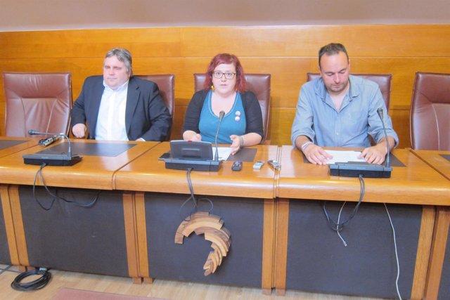 Los tres diputados de Podemos Cantabria