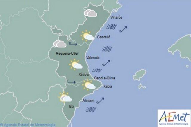 Predicción del tiempo en la Comunitat Valenciana para este domingo